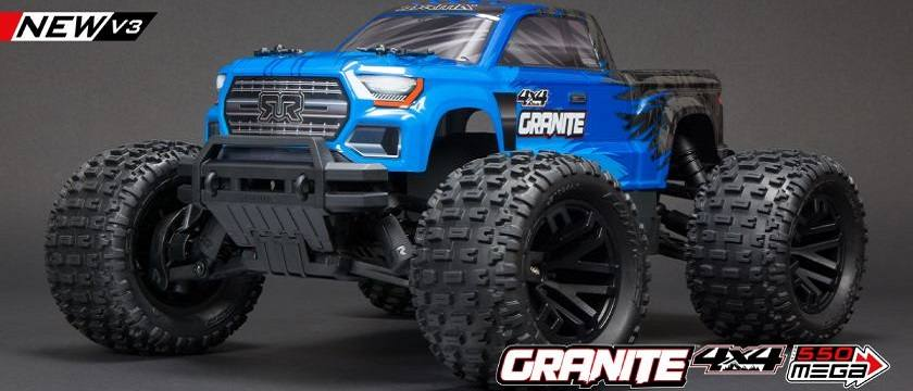 ARRMA GRANITE 4X4 V3 MEGA 550 Brushed Monster Truck RTR